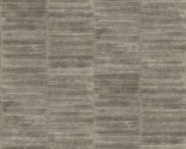 Exclusief palingleer behang motief - zilvergrijs PAL405