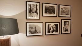 Fotolijst zwart-wit poster beroemdheden