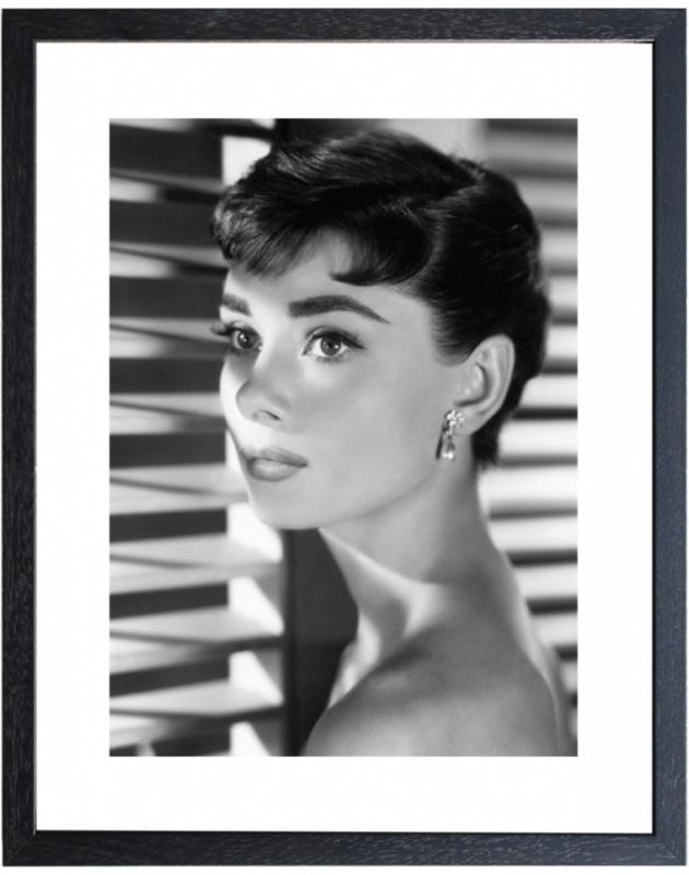 Fotolijst zwart-wit foto Audrey Hepburn (5)