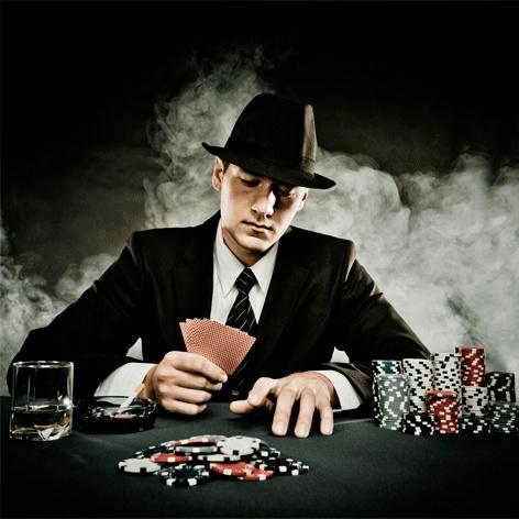 AluArt - Man gambling 100x100