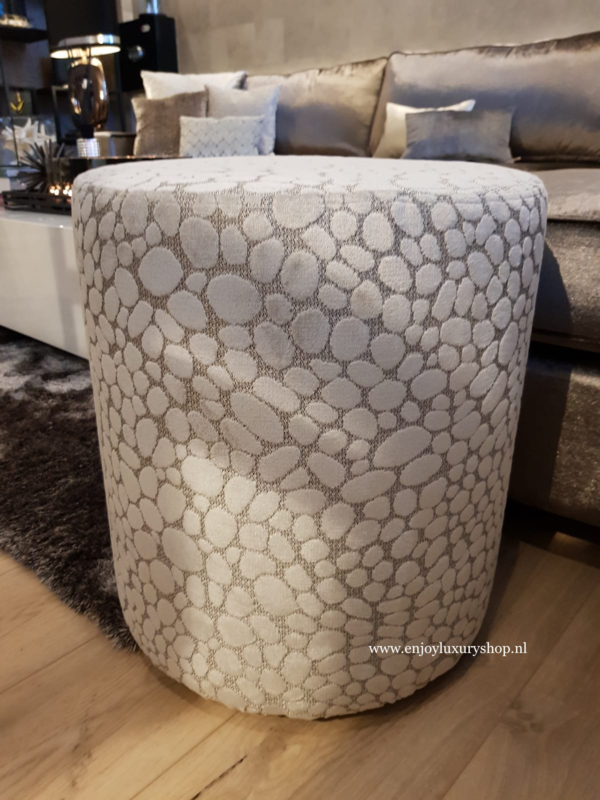 CLAUDI Luxe poef rond - Pasqualle