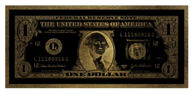 AluArt - Dollar Washington GLAM005 Gold (90x200)