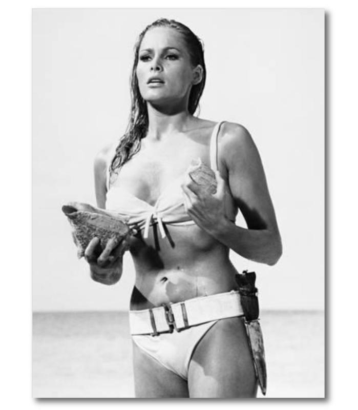 Spiegellijst poster 007 James Bond Lady 1962  (70x90)