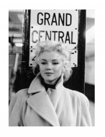 Spiegellijst met Marilyn Monroe Grand Central (verticaal)
