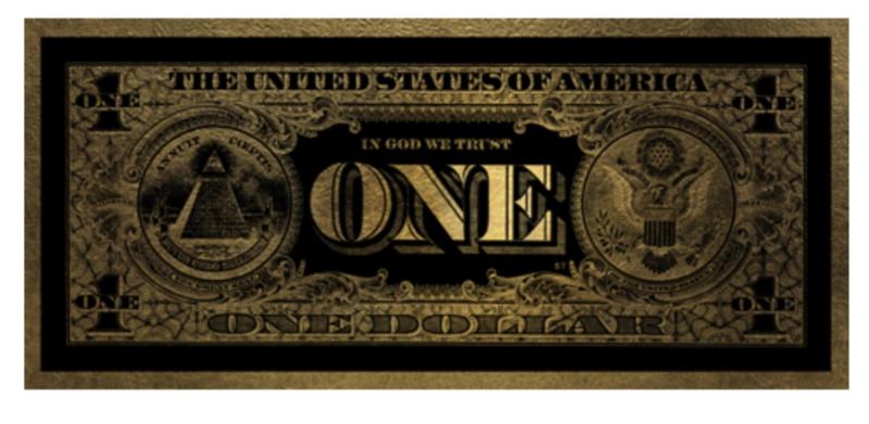 AluArt - One Dollar GLAM002 Gold