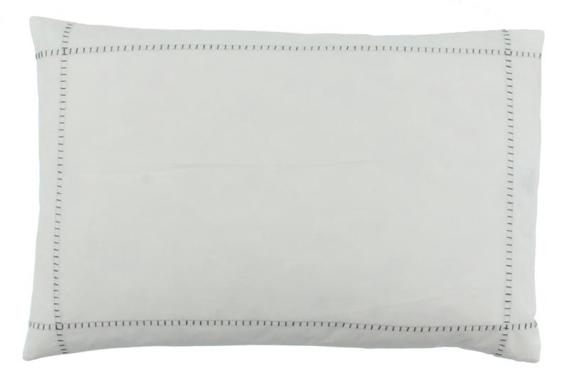 CLAUDI Dekbedovertrek ATAAHUA - White/Dark taupe