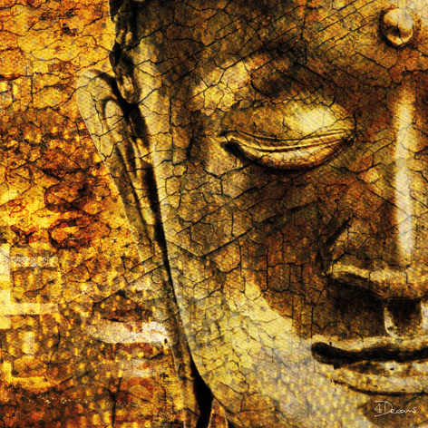 AluArt - Golden Buddha 120x120
