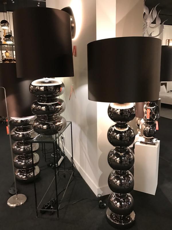 Stout Vloerlamp Milano (5) bollen Glans nikkel