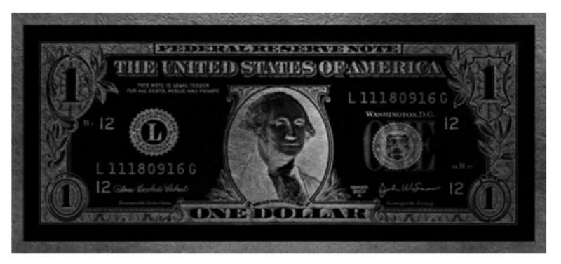 AluArt - Dollar Washington GLAM007 Zilver (90x200)