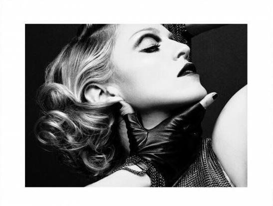 Spiegellijst met poster Madonna