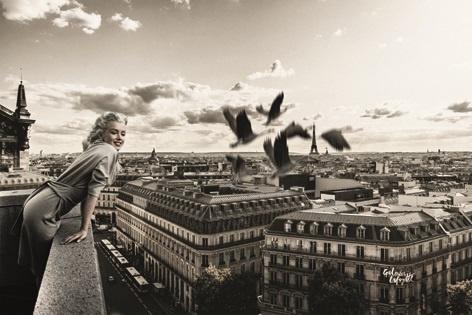 AluArt Kunstwerk - Marilyn Monroe Paris view