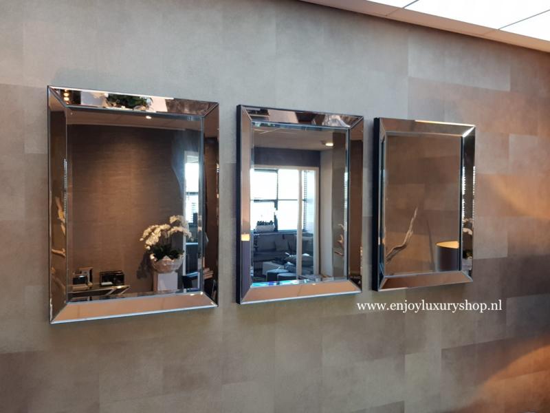 COMBI SET: 3x Spiegellijst (60x80) zilver