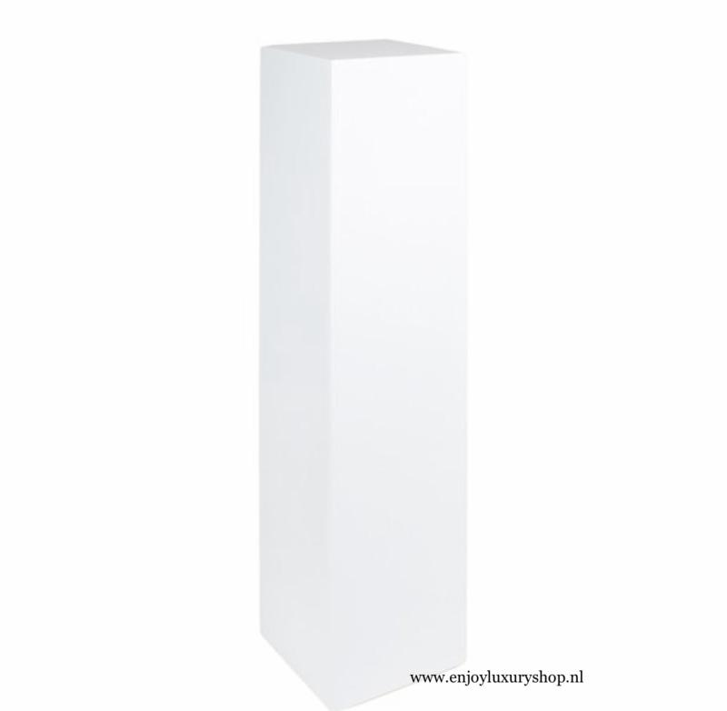 Luxe sokkel zuil in  hoogglans wit (30x30x120)