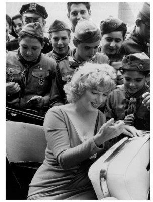 Spiegellijst met Marilyn Monroe 'Signing Autographs'