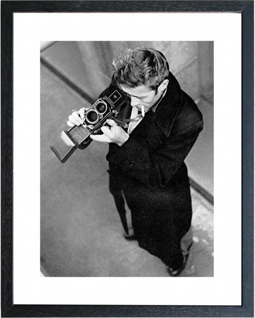 Fotolijst zwart-wit foto James Dean camera