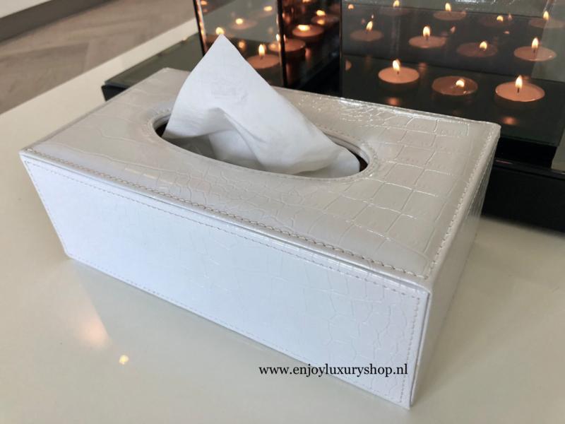 Fonkelnieuw Luxe Tissue box - Tissue houder Croco wit | Diverse KU-75