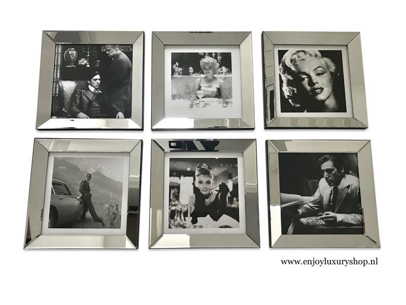 Fotowand 6x foto spiegellijsten (collage HS)