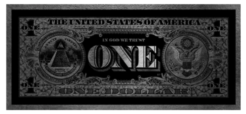 AluArt - One Dollar GLAM004 Zilver