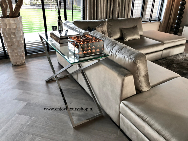 Sidetable Glas Rvs.Sidetable Wandtafel Console Luxury Luxury Meubels Enjoy Luxury