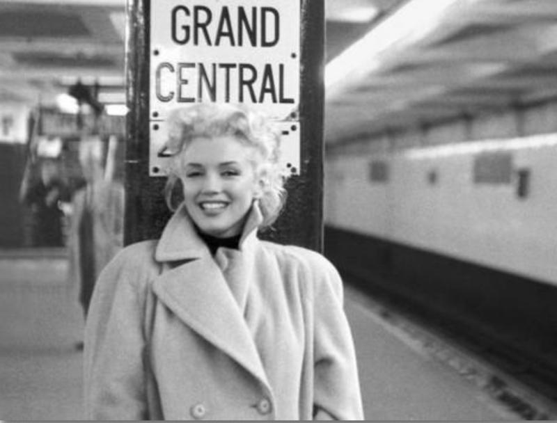 Spiegellijst Marilyn Monroe Grand Central - horizontaal