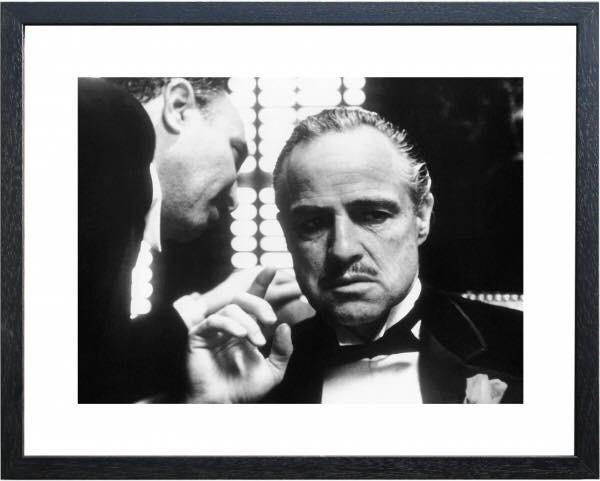 Fotolijst zwart wit foto The Godfather Whisper