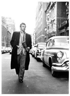 Spiegellijst met James Dean 'Walking'