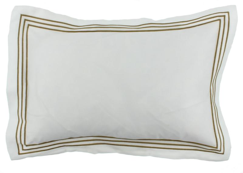 CLAUDI Dekbedovertrek KAIA - White/Olive