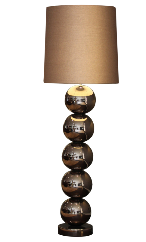 Stout vloerlamp Milano (5) bollen rosé brons