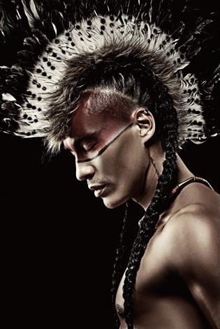 AluArt Kunstwerk - Indian warrior man