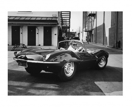 """Spiegellijst met  Steve McQueen """"Car"""""""