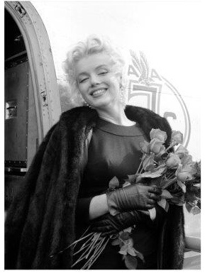 Spiegellijst met Marilyn Monroe Flowers