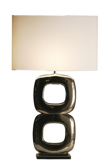 Stout Tafellamp Maxime (2) glans nikkel