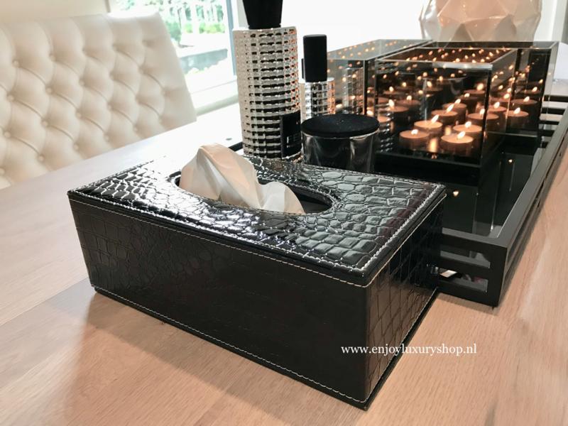 Nieuw Luxe Tissue box - Tissue houder Croco zwart | Diverse JE-21