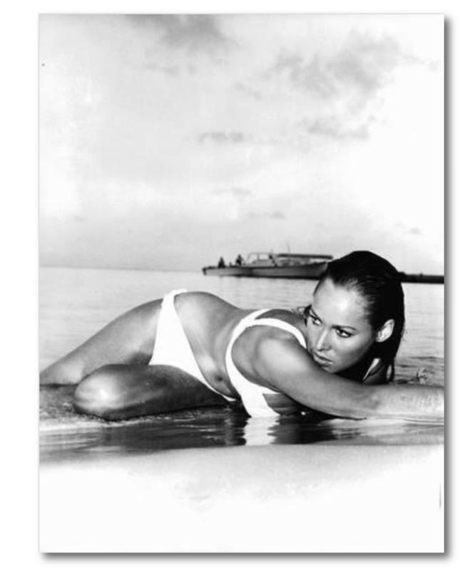 Spiegellijst poster 007 Ursula Andreas 1962  (70x90)