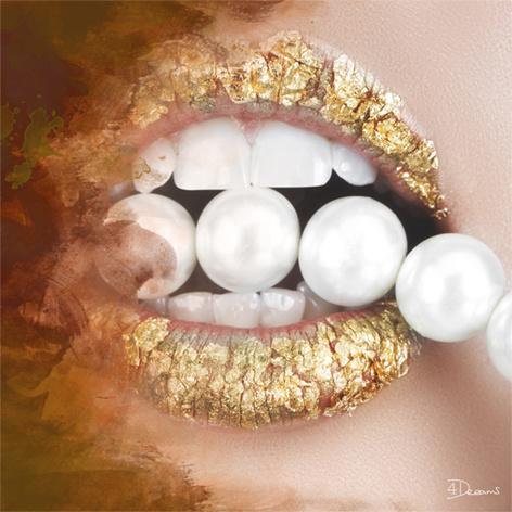 AluArt - Pearls gold 80x80