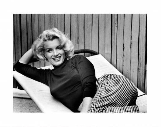 """Spiegellijst met Marilyn Monroe """"relaxing"""""""