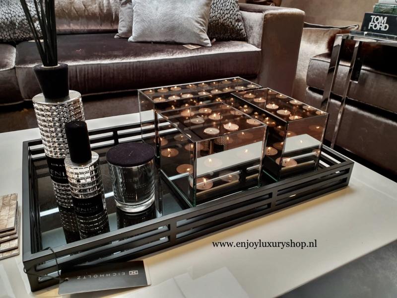 COMBI SET: Dienblad EICHHOLTZ Giacomo met accessoires (zwart)