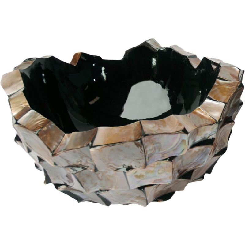 Schelpenvaas Bowl - bruin 60cm