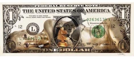 AluArt - Dollar Gold Girl (90x200)
