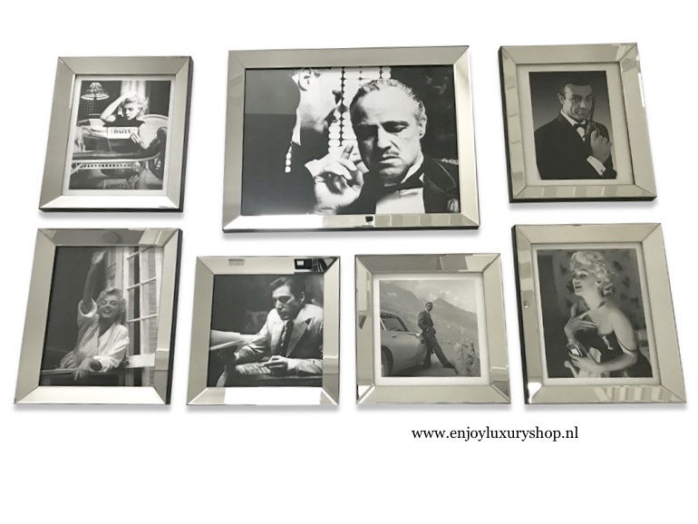 Fotowand 7x foto spiegellijsten (collage ES)