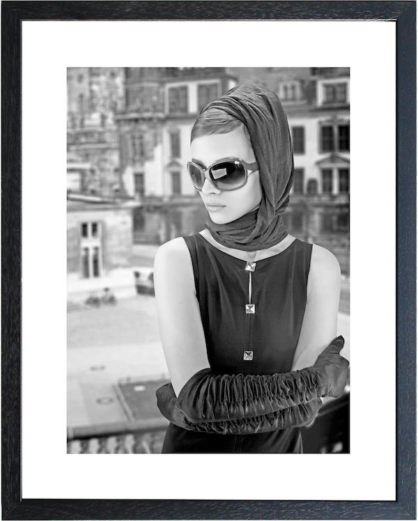 Fotolijst zwart-wit foto 'Sunglass'