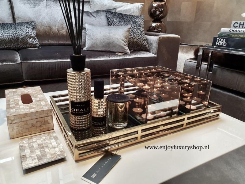 COMBI SET: Dienblad EICHHOLTZ Giacomo met accessoires (goud/brons)