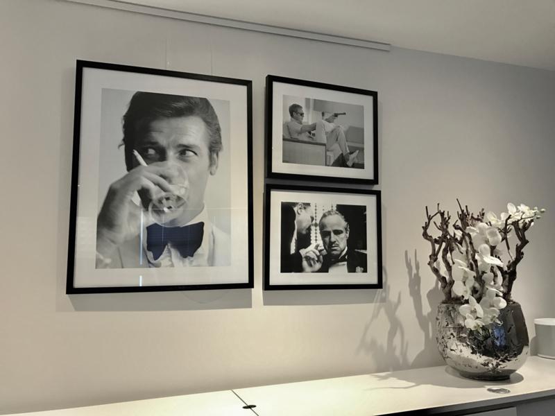Combiset 3x fotoprint zwart-wit ingelijst (G)