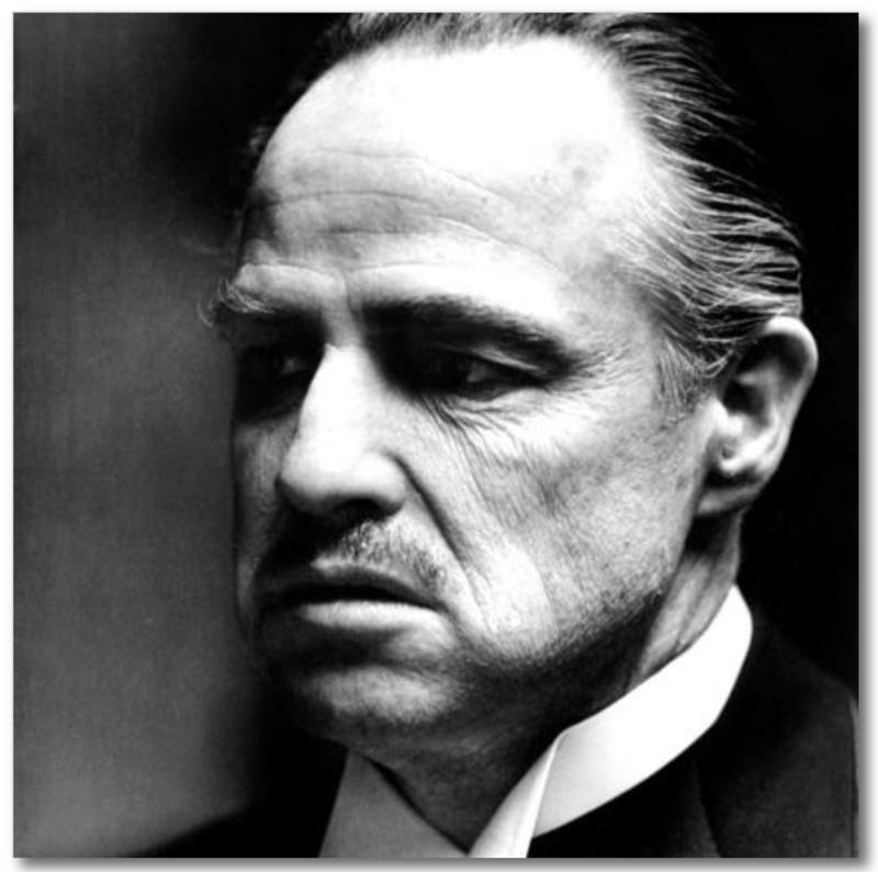 Spiegellijst met poster The Godfather | Marlon Brando (50x50)