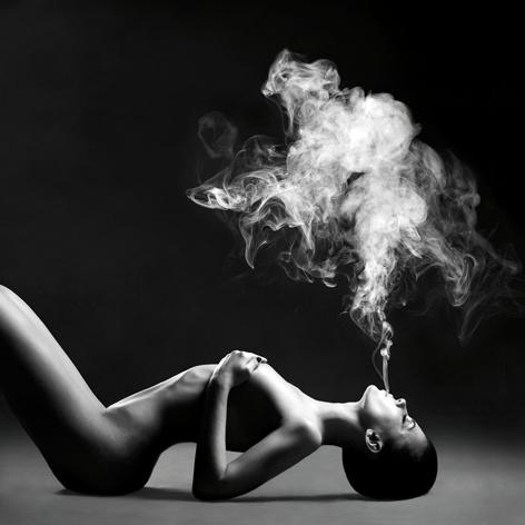 AluArt Kunstwerk - Smoke Lady