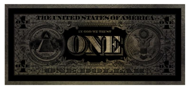 AluArt - One Dollar GLAM003 Parelmoer