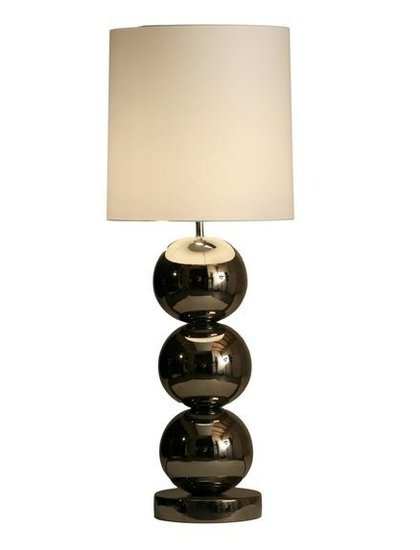 Stout Tafellamp Milano (3) bollen glans nikkel