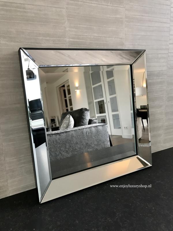 Spiegel met spiegellijst zilver (80x110)