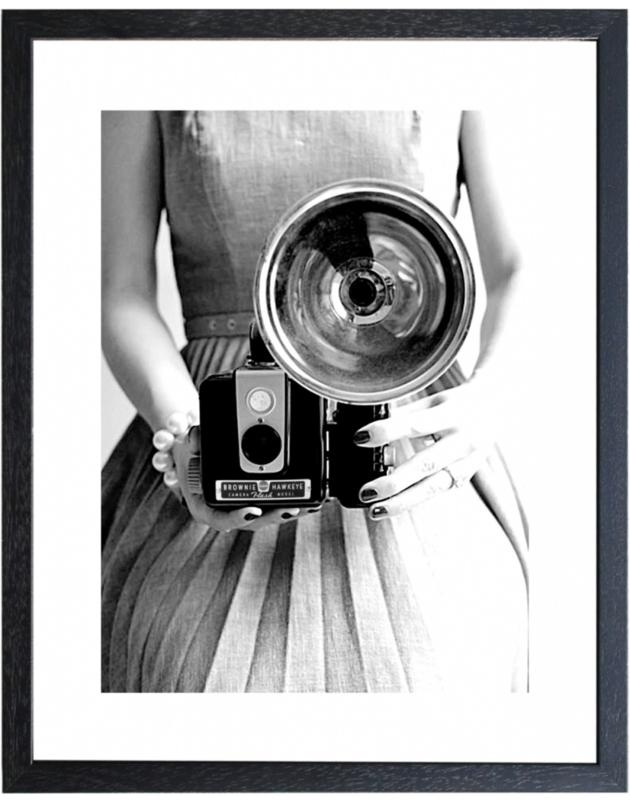 Fotolijst zwart-wit foto 'Camera' (M 40,5 x 50,5)