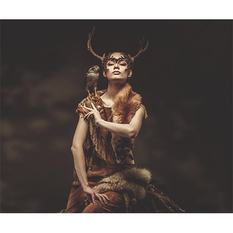 AluArt Kunstwerk - Woman Shaman Hawk